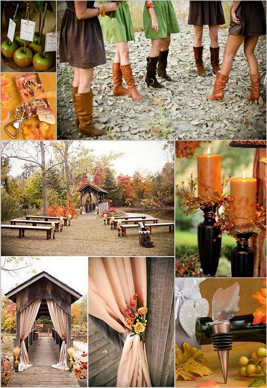 32 best brown green and orange wedding images on pinterest fall rustic wedding inspiration with green brown and orange colors hotref fallwedding junglespirit Image collections