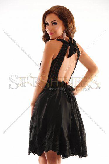 Majestic Reunion Black Dress