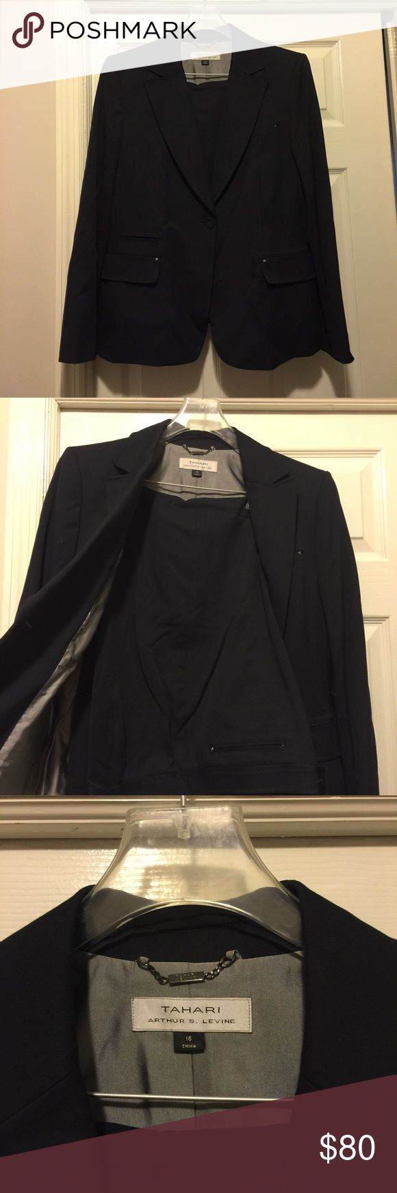 Plus size Jacket & Trousers Elegant jacket and trousers from Tahari ASL. Pair with heels and a statement bag and your ready from dawn till dusk. Smoke and pet free home. Tahari Woman Jackets & Coats Blazers