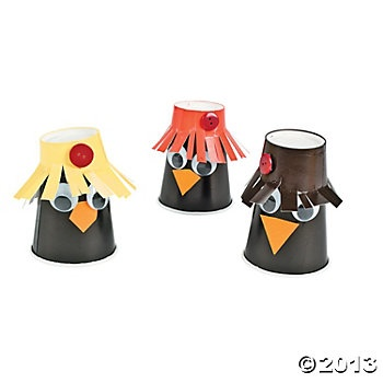 Paper Cup Scarecrows