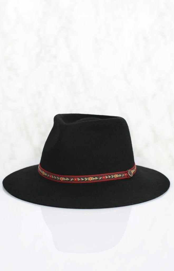 FESTIVAL ESSENTIAL! Fallen Broken Street The Dingo Hat - Flower Band Black | Beginning Boutique #BBFEST #beginningboutique