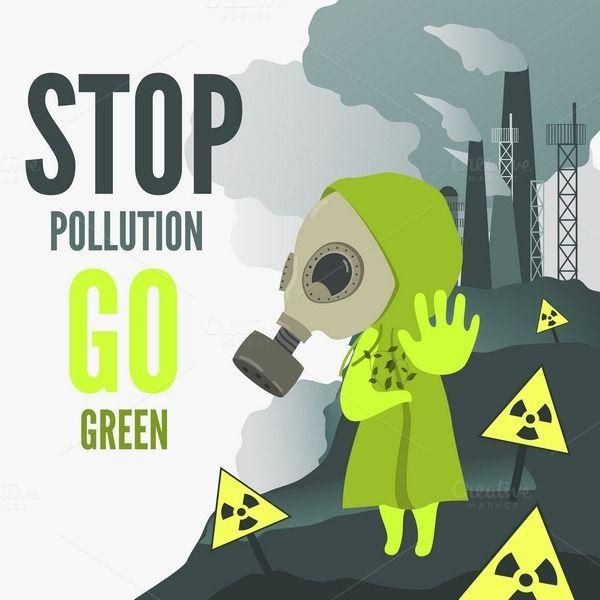 Stop environmental pollution by masastarus on @creativemarket