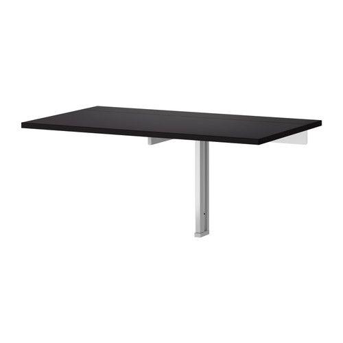 IKEA - BJURSTA, Klaptafel voor wandmontage, Wordt naar beneden geklapt een praktische plank voor kleine spulletjes.Kan na gebruik worden ingeklapt en bespaart daardoor plaats.Het blank gelakte oppervlak is makkelijk af te nemen.Plaats voor 2 personen.