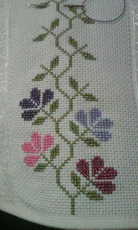 Cenefa [] #<br/> # #Crossstitch,<br/> # #Stitches,<br/> # #Cross #Stitch,<br/> # #Diy,<br/> # #Edging,<br/> # #Cross #Stitch,<br/> # #Straight #Stitch,<br/> # #Flower,<br/> # #Crafts<br/>
