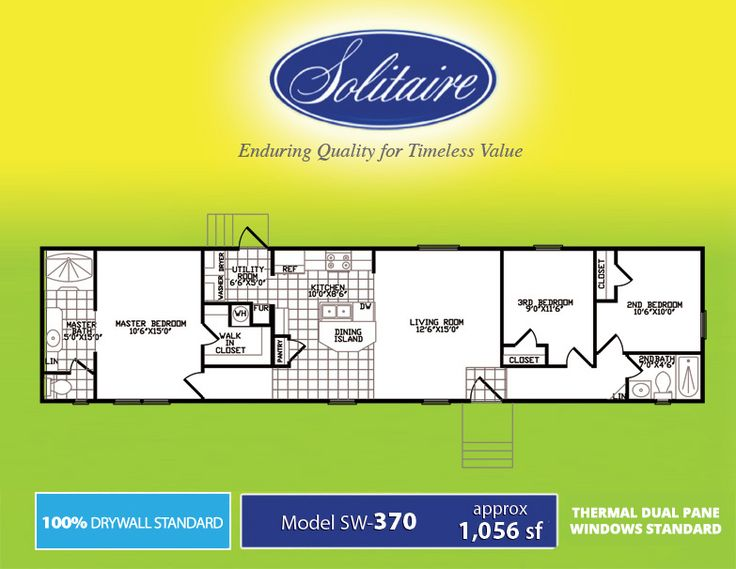 New Single Wide Manufactured Home Floorplans From Solitaire Homes