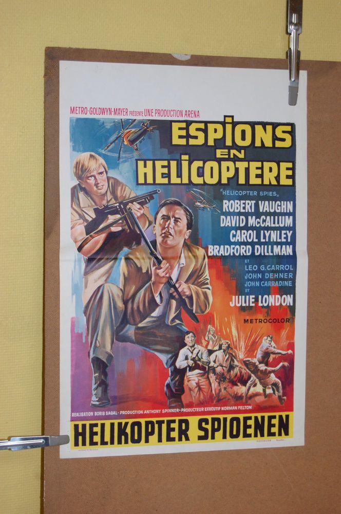 HELICOPTER SPIES (Boris Sagal) VINTAGE BELGIAN MOVIE POSTER (1968)