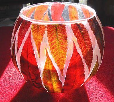 October ~ Leaves & Wind ~ Candle Holder