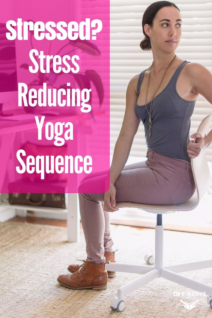 Stressed? Reduce Stress with This Yoga Sequence via @DIYActiveHQ #yoga #athomeyoga #health