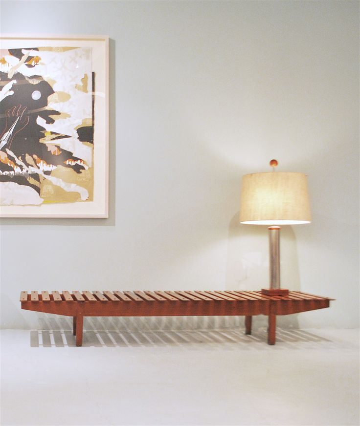 Mucki Bench And Table Lamp Designed By Sergio Rodrigues