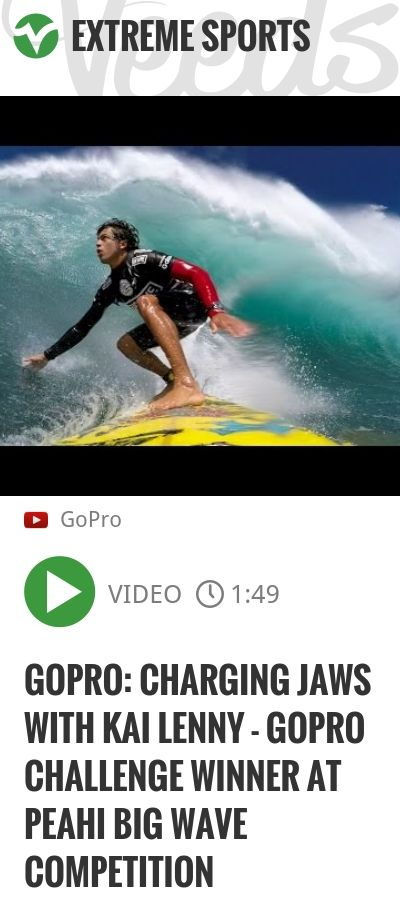 GoPro: Charging Jaws with Kai Lenny - GoPro Challenge Winner at Peahi Big Wave Competition | #gopro | http://veeds.com/i/k8A0ZBtv3jzDq4p_/extreme/