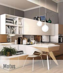 """Motus – design creat de Vittore Niolu  Gama Motus dezvoltata de Scavolini reuseste sa imbine intr-un tot unitar functionalul cu divertismentul si familiarul cu privatul, utilizand elemente """"independente"""" care se pot conecta sau utiliza separat.."""