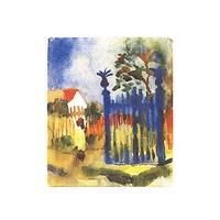 Garden Gate By August Macke: Category: Art Currency: GBP Price: GBP22.00 Retail Price: 22.00 Der Blaue Reiter Hot Blue Yellow Landscape…