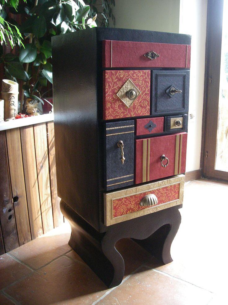 120 mejores im genes sobre meuble carton en pinterest caja de costura animaux y caj nes. Black Bedroom Furniture Sets. Home Design Ideas
