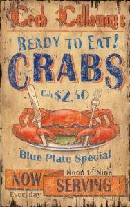 Crab Calloway Seafood - Vintage Beach Sign