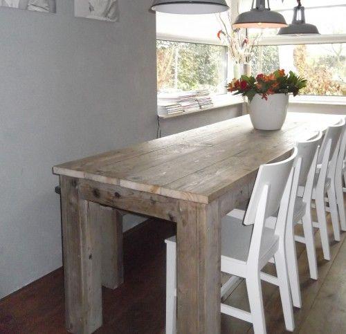 25 beste idee n over tafel achter bank op pinterest for Tafel laten maken