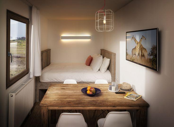 Interior Sleeping Around POP UP Containerhotel VILLA 5 persons (Partners: uravit/DARK/Hans Grohe/Tende Aristide)