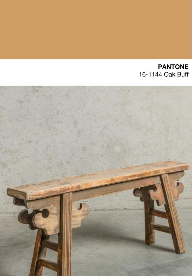 Oak Buff - Oud houten bankje