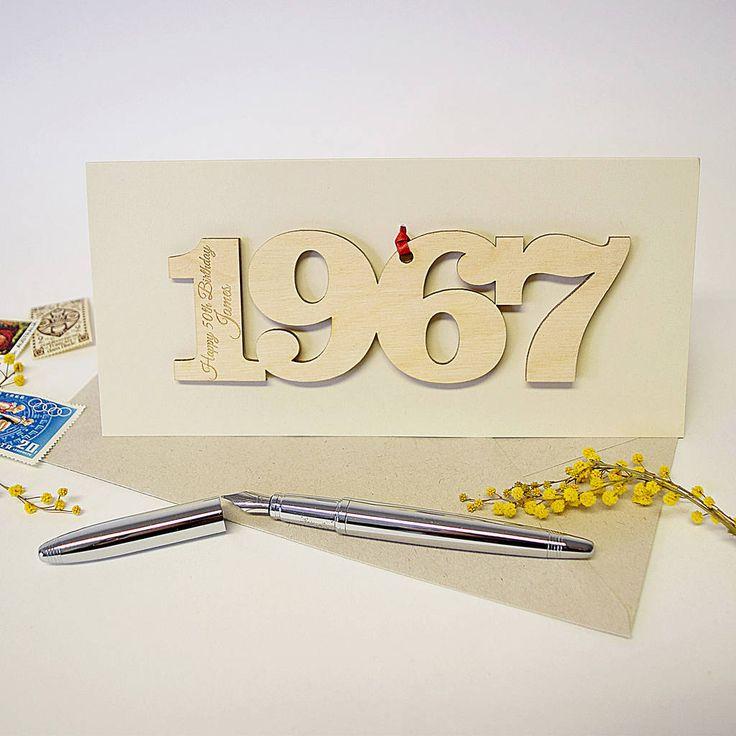 Персонализированный 50-ый день рождения 1967 мотив карты hickory dickory designs | notonthehighstreet.com