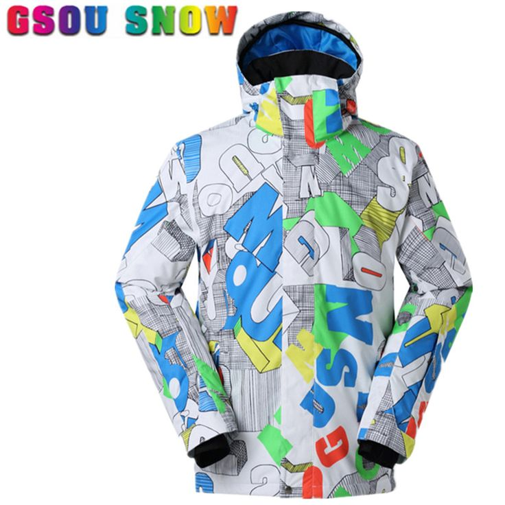 Gsou Snow ski jacket men snowboard jacket high quality Waterproof 10000 skiing jacket male outdoor snow ski snowboarding coat  #Affiliate