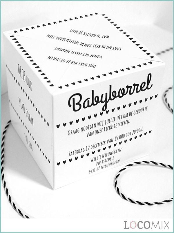 Maak de geboorte van jullie meisje of jongen op een spectaculaire manier bekend aan jullie familie, vrienden en kennissen. De Out of the Box is de origineelste kaart voor dit mooie nieuws. Deze kaart kan volledig worden gepersonaliseerd en zal uit de envelop springen als deze wordt geopend. Kijk voor de mooie ontwerpen en voor de mogelijkheden snel op LocoMix.nl!