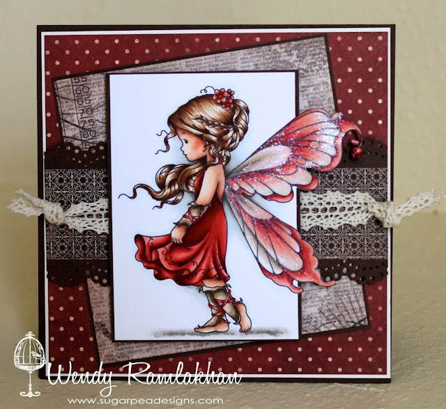 Wendy Ramlakhan of SugarPea Designs: Silver Fairy - Whimsy Stamps