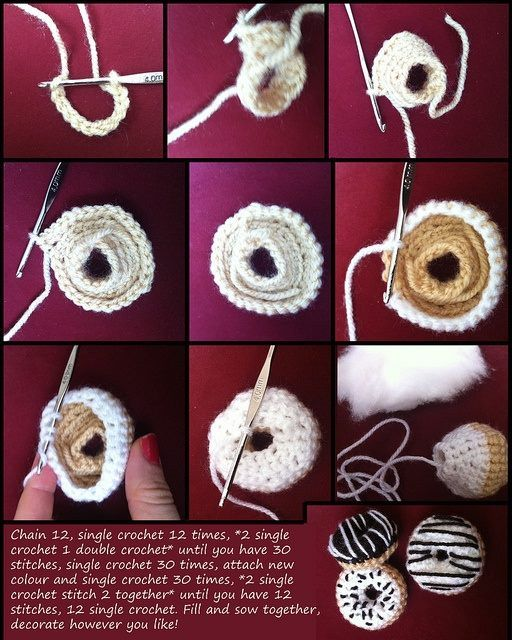 crocheted donut pattern