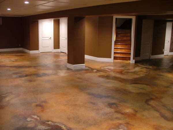 ideas basement colors remodeling ideas stained concrete flooring acid