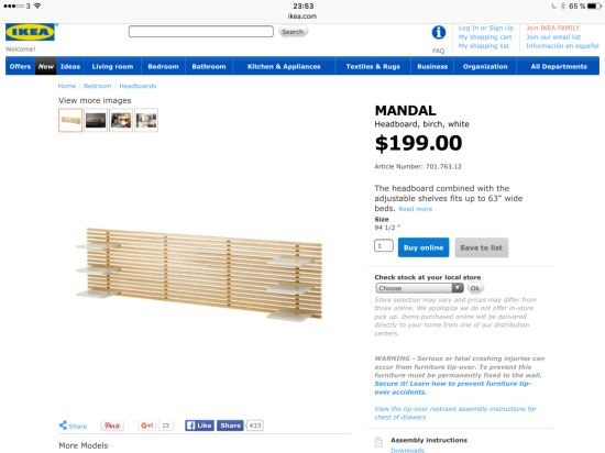 Ikea mandal headboard mounting for Ikea trones for sale