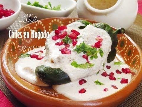 chiles en nogada receta fcil y original youtube