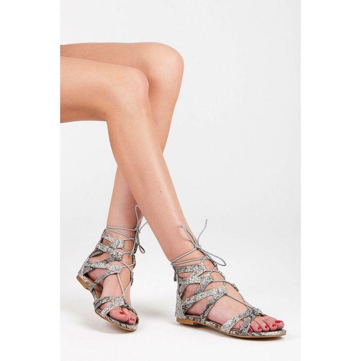 Ploché sandále s viazaním 2011-41W/B