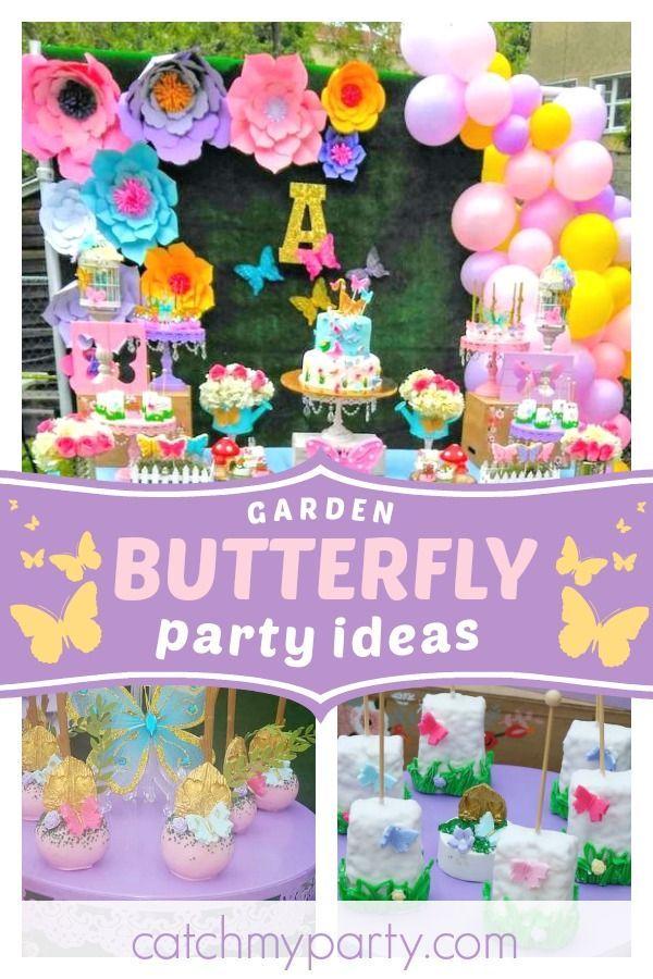 Butterflies Garden Birthday Butterflies Garden 1st Birthday 1st Birthday Party For Girls Garden Party Birthday Butterfly Party