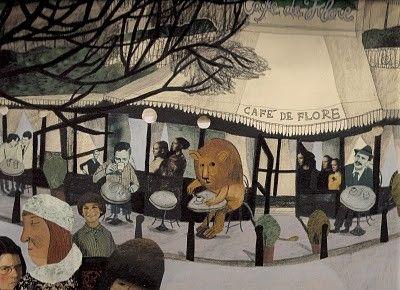illustration,Beatrice Alemagna, A Lion in Paris