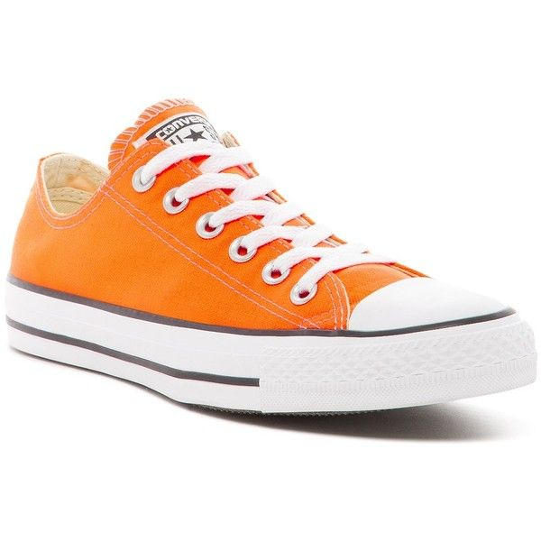 Converse Chuck Taylor All Star Oxford Sneakers (Unisex) (€26) ❤ liked on Polyvore featuring shoes, sneakers, hyper orange, converse sneakers, canvas lace up shoes, oxford shoes, oxford lace up shoes and converse oxford