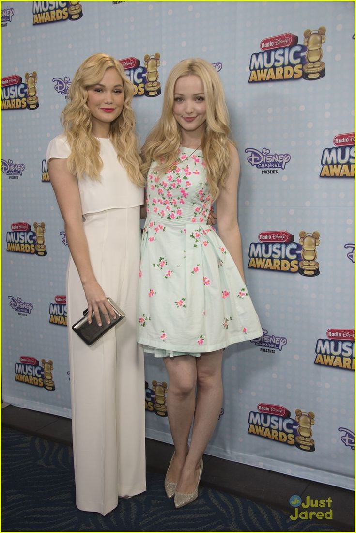Olivia Holt and Dove Cameron at the Radio Disney Music Awards 2015