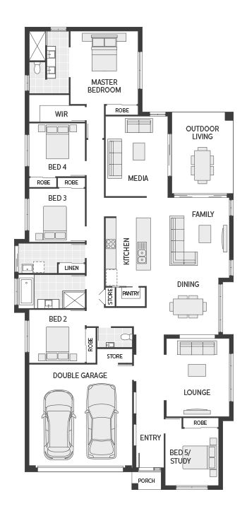 I really like the master bathroom layout. Coral Homes :: The Noosa Series features