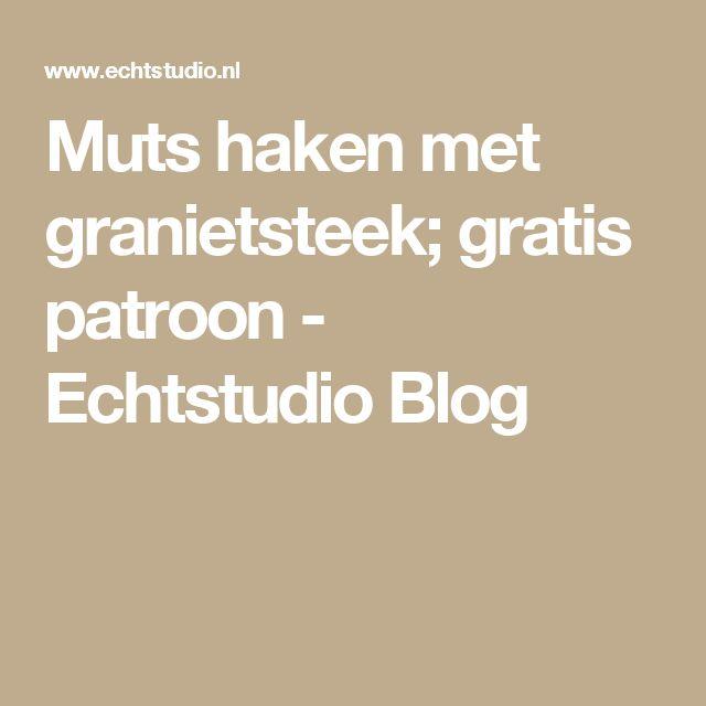 Muts haken met granietsteek; gratis patroon - Echtstudio Blog
