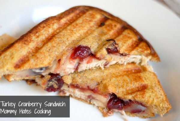 Use up the leftovers with a Turkey Cranberry Sandwich