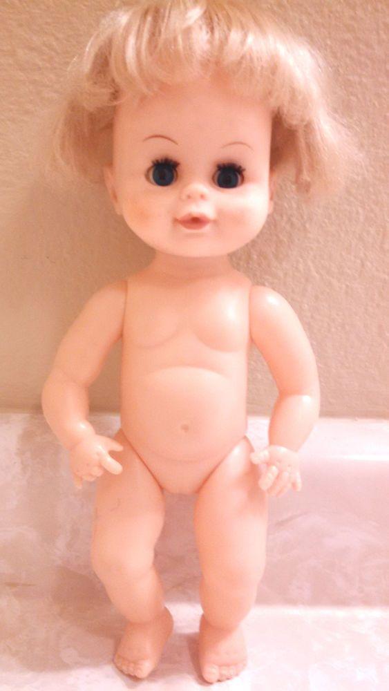 Vintage Uneeda Drink Wet Doll Blonde Baby Girl | eBay