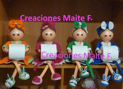 FOFUCHAS. Manualidades y Creaciones Maite: FOFUCHAS PORTA ROLLO PARA BAÑO