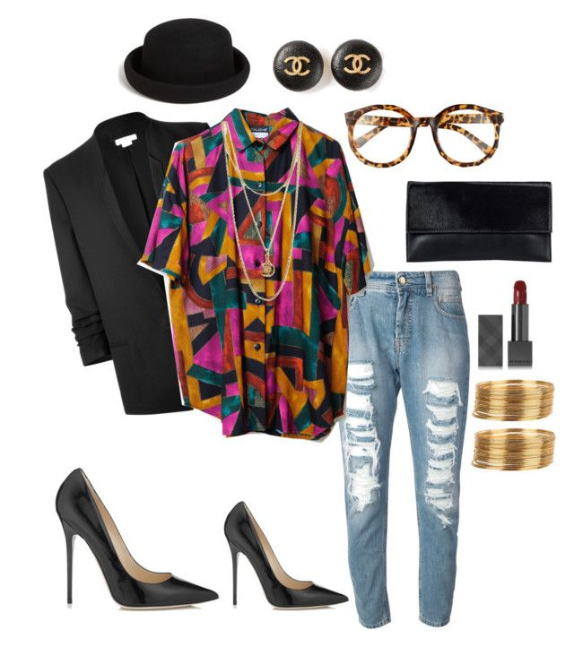 Patricia by drestyles on Polyvore featuring Helmut Lang, Twin-Set, Jimmy Choo, JFR, Chanel, Armitage Avenue, Forever 21, Topshop, FE NY and Burberry