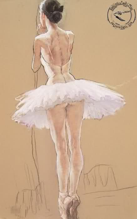 Ballet sketch - lovely - wonder who it's by?                                                                                                                                                                                 More