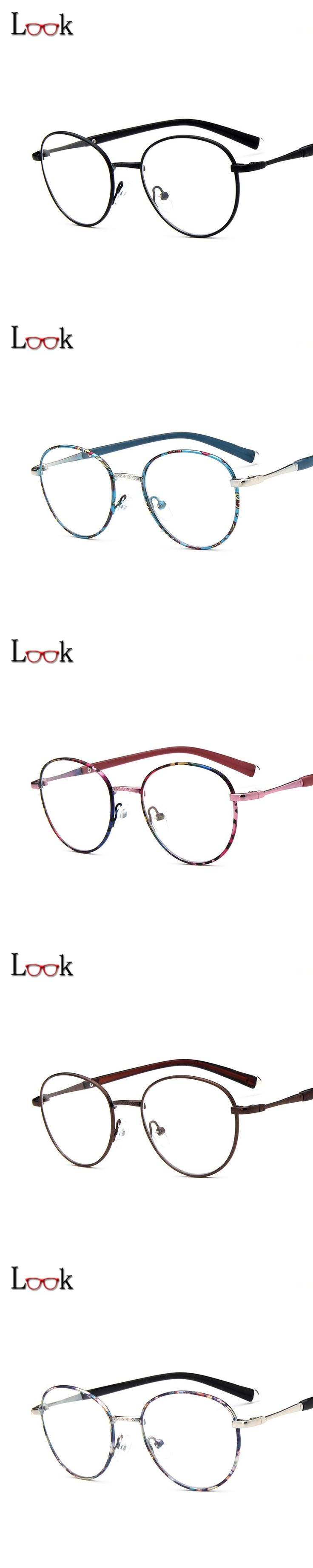 2017 Brand Designer Spectacle Optical Glasses Frame Anti-radiation Computer Glasses Vintage  Round Eye Glasses Frames Oculos