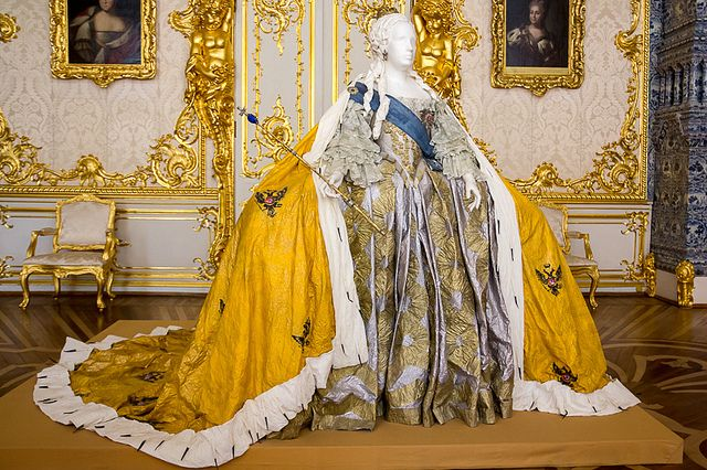 Catherine the Great's Royal Dress   Flickr - Photo Sharing! (She was quite the woman as this ensemble attests. LC)