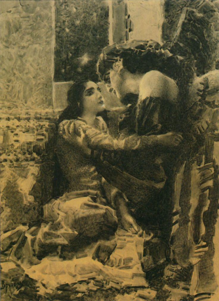 Tamara and Demon, 1891 Mikhail Vrubel -