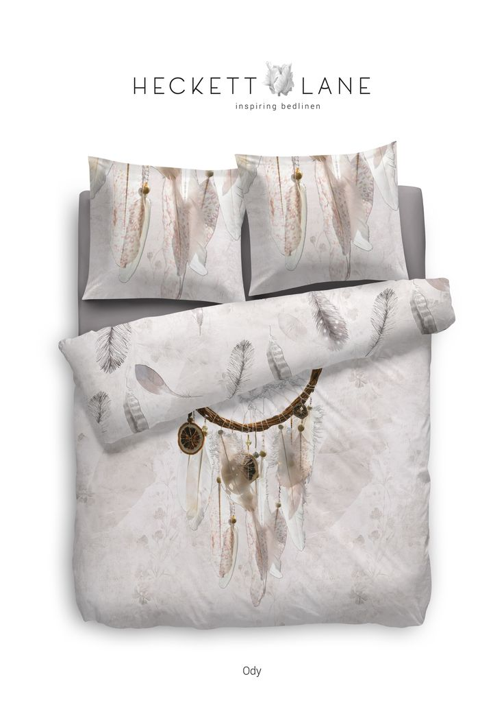 Deze prachtige dromenvanger gecombineerd met een subtiele verenprint past werkelijk in ieder interieur. De inspiratie voor dekbedovertrek Ody komt vanuit de Bohemian trend welke veel gezien wordt in Ibiza. #boho #bohemian #bedroom #delinnerie #duvet