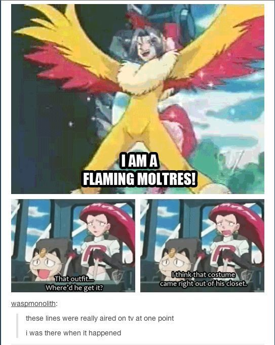 I was there when it happened. Oh, James. #pokemon #teamRocket