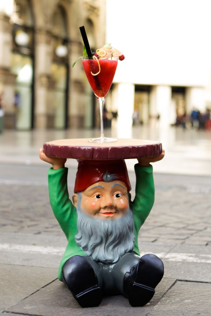 One More Please #cocktail, Philipe #Starck's Gnomes  #kartell #milandesignweek #hyatt