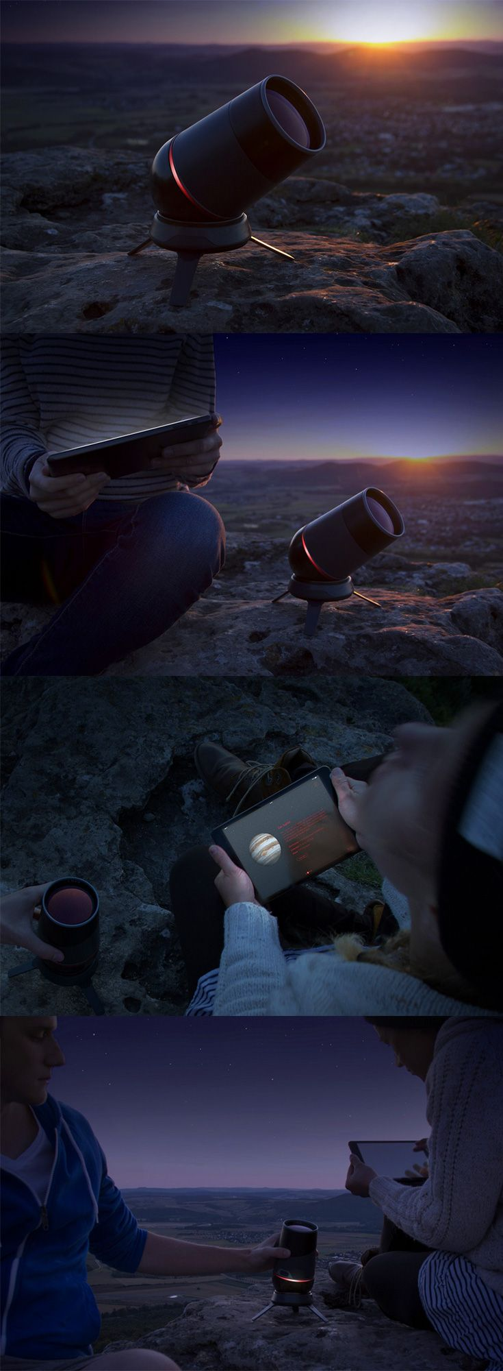 The 'Aeon Telescope Kindler' brings a new definition to the phrase 'aim for the stars', this tiny yet powerful telescope is ideal for the amateur stargazer, making astronomy truly accessible to the masses... READ MORE at Yanko Design !