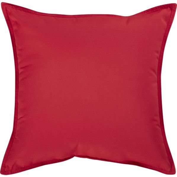 Sunbrella Chili Pepper 22 Sq. Outdoor Pillow in 30% off Outdoor Pillows Crate and Barrel AA ...