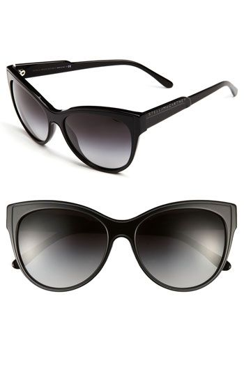 Stella McCartney Retro Cat's Eye Sunglasses Black One Size